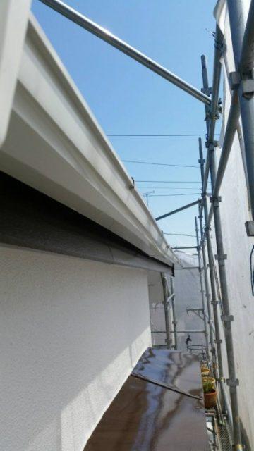 雨樋、破風板塗装2